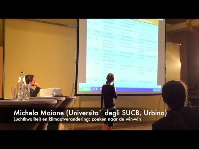 15de Horta Professor Michela Maione over luchtkwaliteit en klimaatsverandering