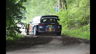 WRC Rally Deutschland 2017 Shakedown | ogier crash (almost) & mud action and mistakes