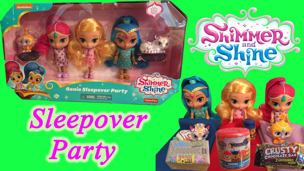 Shimmer And Shine Sleepover Party With Genie Set Sleeping Bag Surprises