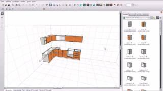 PRO100 - 3d furniture design software - catalog corpuri bucatarie