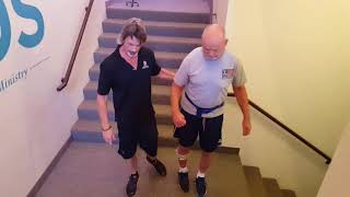 Longevity Personal Training Helps Stroke Patient Climb Up and Down Stairs