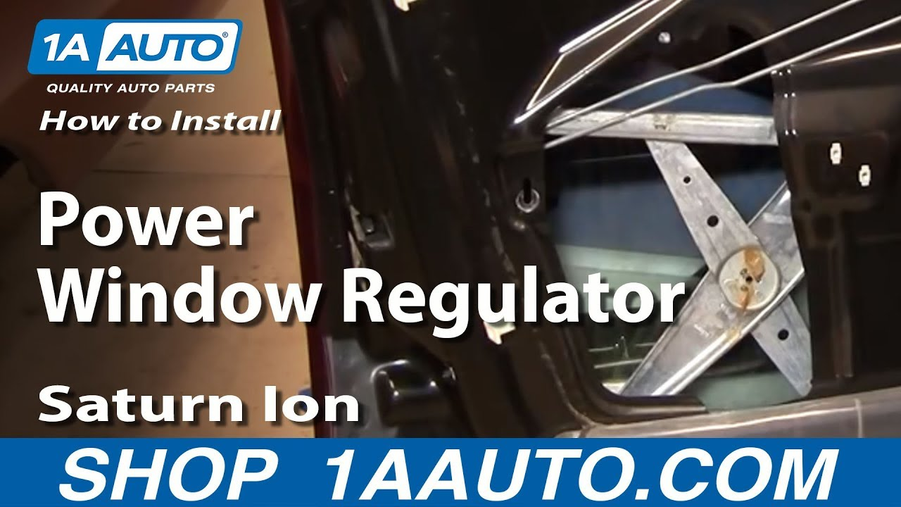hight resolution of how to replace front window regulator 03 07 saturn ion
