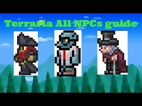 Terraria all NPCs guide