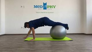 Rutina abdominal con pelota pilates
