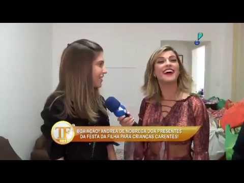 tv fama Andrea de Nobrega doa presentes da festa da filha para crian as carentes 30 07 2015 mircmirc