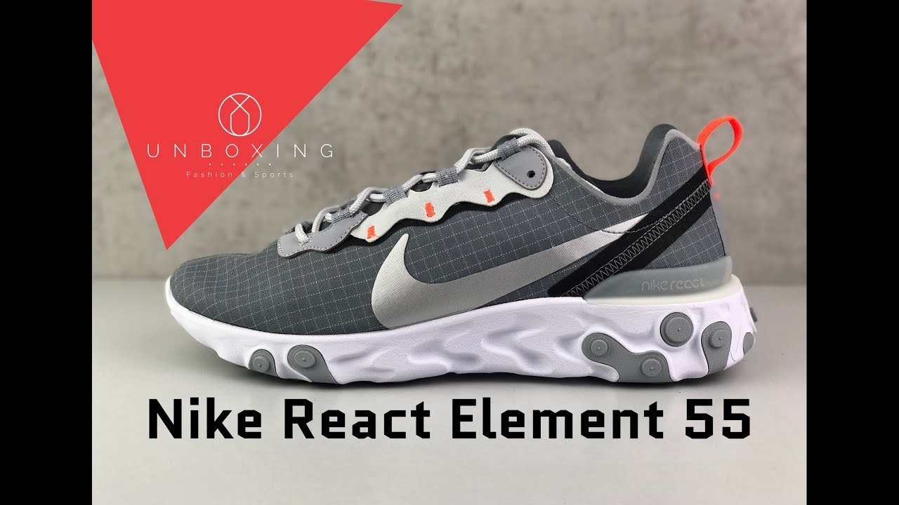 Nike React Element 55 shoes grey