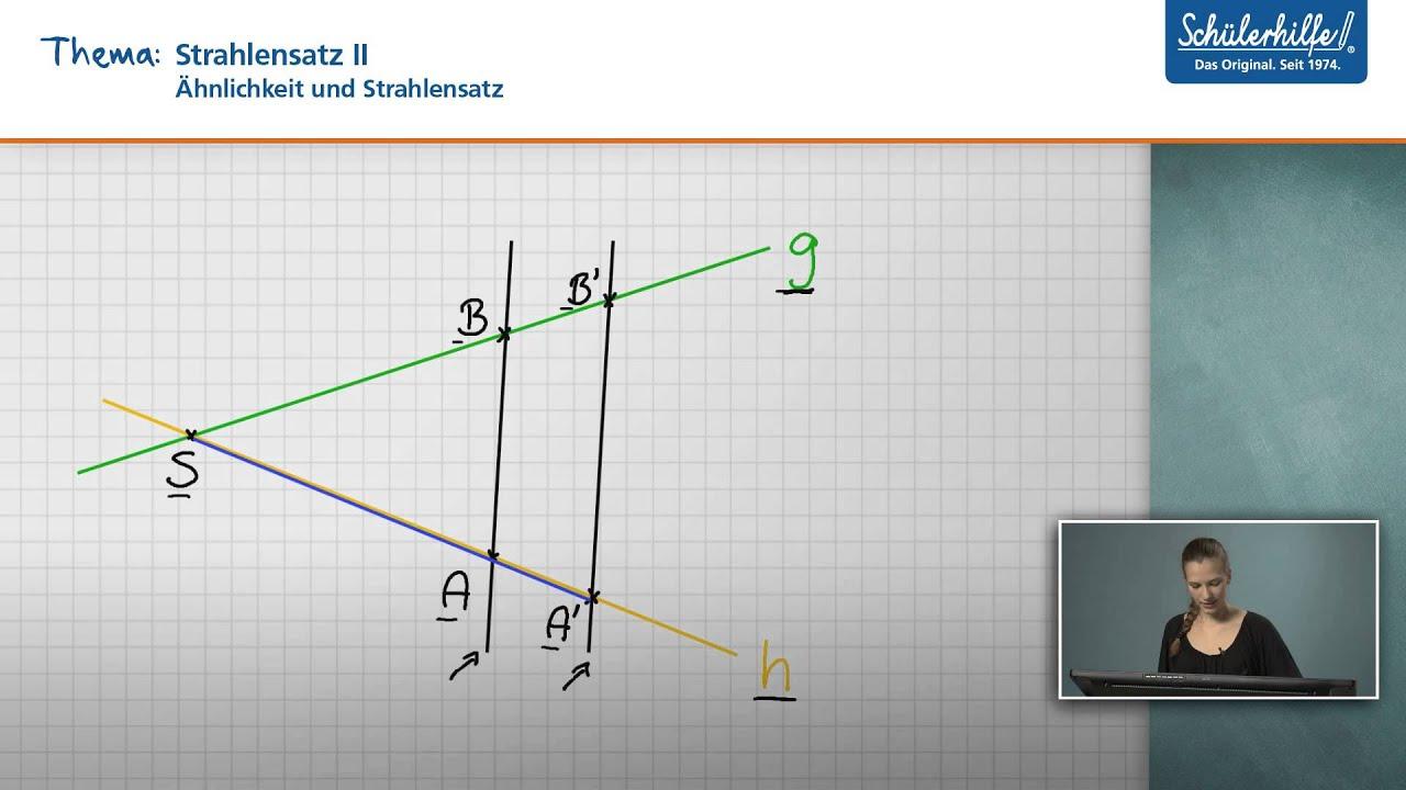 Strahlensatz II // Ähnlichkeit & Strahlensatz // Mathematik ...