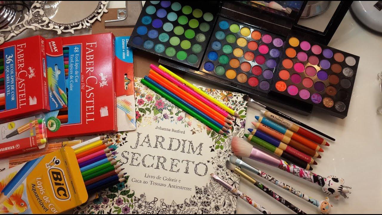 Jardim Secreto Ou Floresta Encantada Colorir Com Maquiagem Os Meus Ja Coloridos VEDA 26