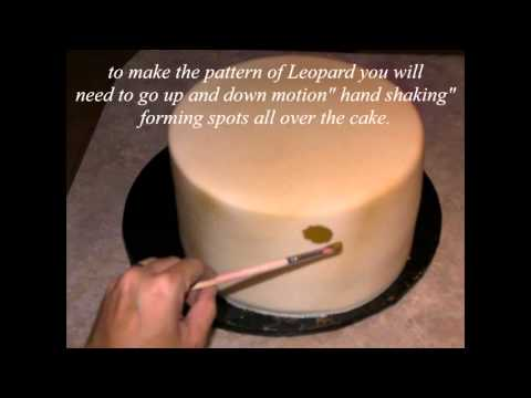 How To Hand Paint Leopard Print Cake Easy And Simple Tutorial By Aneshly Cakes Youtube