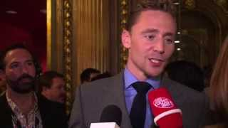 HIGH-RISE stars Tom Hiddleston and Jeremy Irons at TIFF 2015