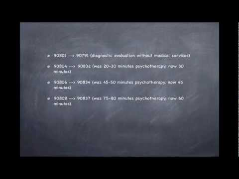 2013 CPT Codes: How They Effect Counselors and Psychologists