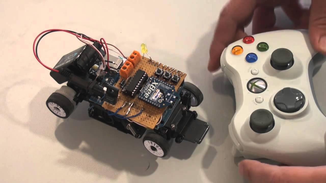 Robot remote command test xbox laptop xbee arduino