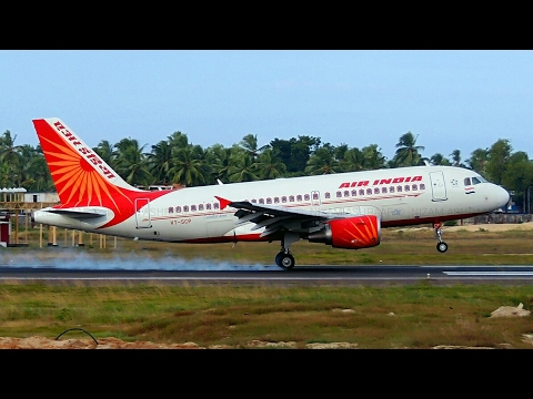 Air India A319 Takeoff from Trivandrum International Airport