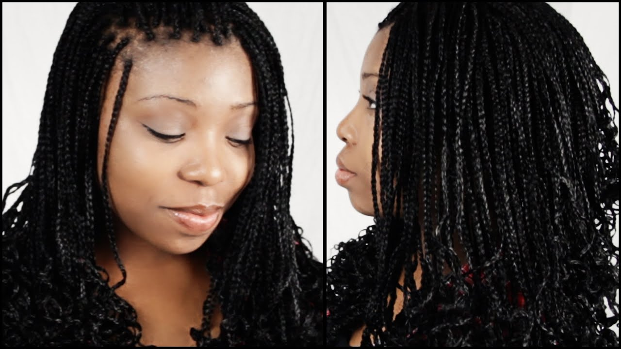 micro braid hairstyles start to finish in 5 minutes!!!