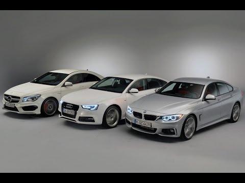 BMW 4er GranCoupé gegen Mercedes CLA Coupé und Audi A5 Sportback