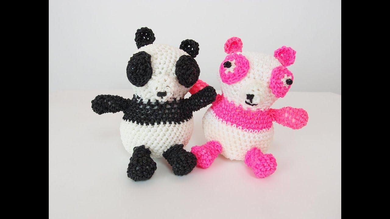 Amigurumi Lalylala : Panda Rainbow Loom Bands Amigurumi Loomigurumi Hook Only ...