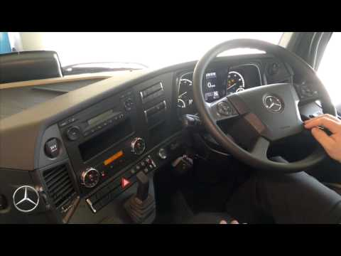 How to operate Mercedes Benz Actros Controls & Switches - YouTube