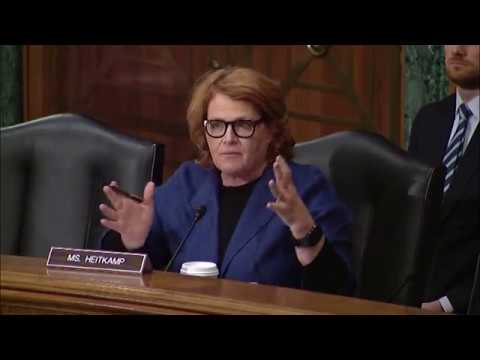 Heitkamp Discusses Role of Financial Companies at Senate Committee Hearing