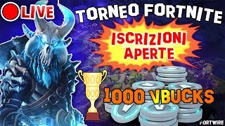 LIVE Fortnite Battle Royale - TORNEO WITH VBUCKS IN ARRIVO! Subscribed/repairs