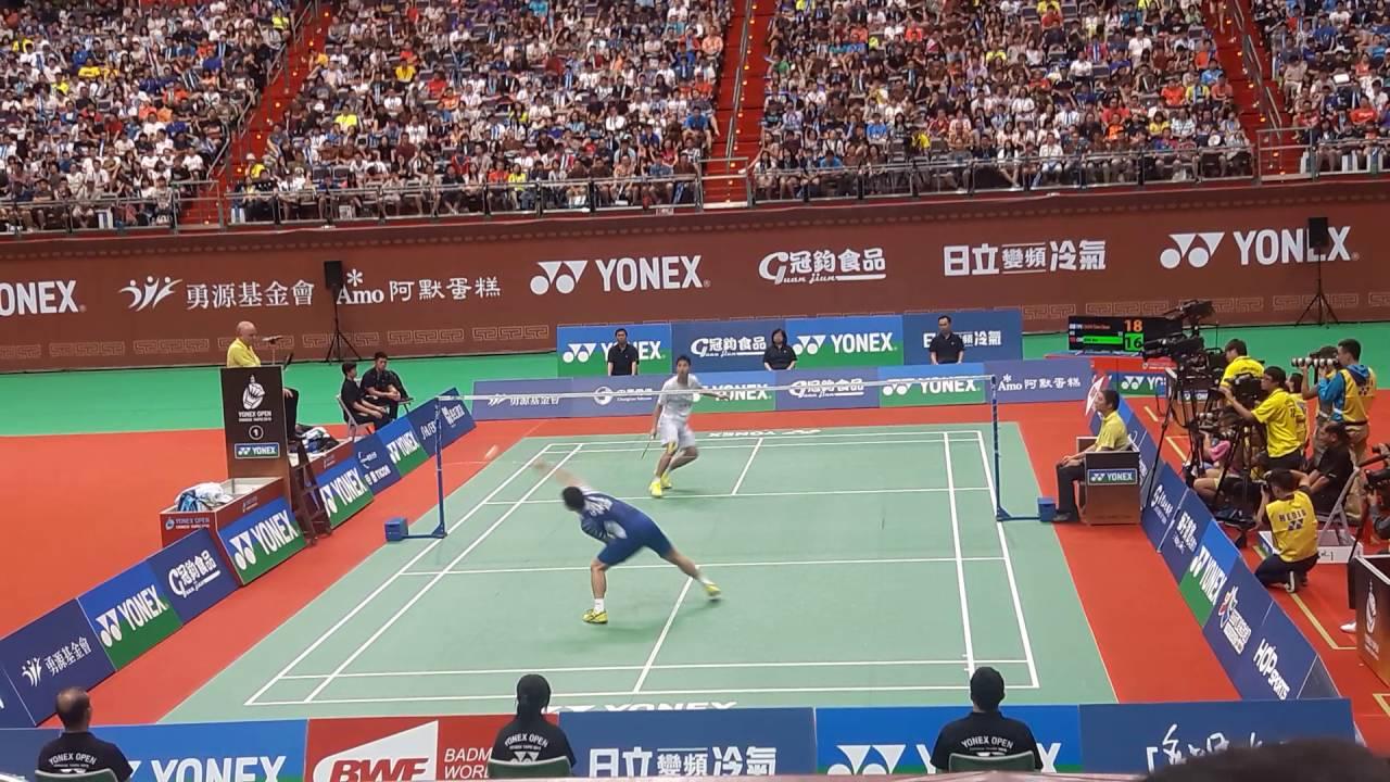 2016 臺北羽球公開賽 final 周天成VS喬斌 2 - YouTube