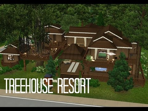 Sims 3 Resort Building - TreeHouse Resort