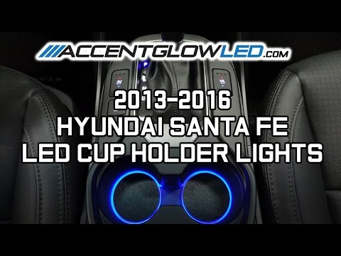 Hyundai Santa Fe LED Cup Holder Lights Install 2013-2017 AccentGlowLED