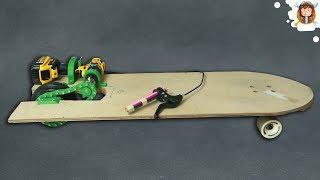 Como fazer um Skate Elétrico - Com Paraquedas - 30 km/h