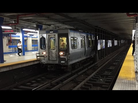 SEPTA HD 60fps: Adtranz M-4 Trains @ 15th Street Station on Market–Frankford Line (7/11/16)