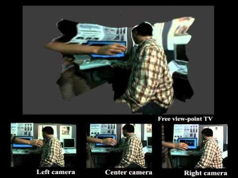 Free Viewpoint TV Captureing System Demo