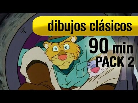 Dibujos clasicos, 90 min. series tv de los 80 y 90 - Pack 2