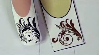 Рисуем вензеля на ногтях/роспись на ногтях/дизайн ногтей/Nail art painting