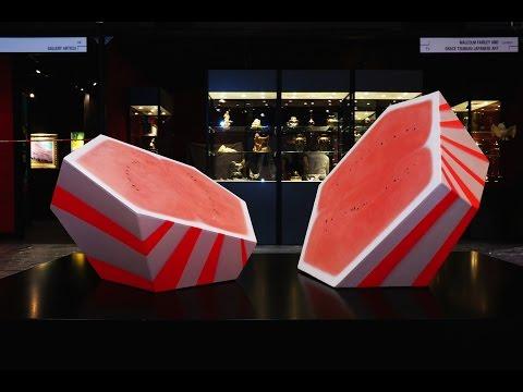 西瓜波 Watermelon Ball 0.207m³ – 3D Painting Installation Project by Sim Chan & Stanley Siu