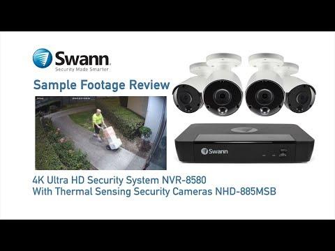 Swann 8MP SWNHD-885MSB 4K IP True Detect White Bullet Camera Audio NHD-885MSB video
