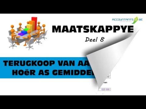MAATSKAPPYE 8 - TERUGKOOP VAN AANDELE TEEN HOËR AS GEMIDDELDE PRYS