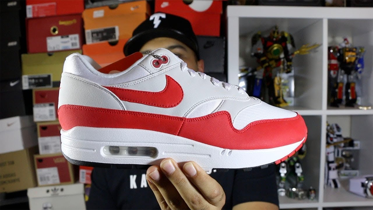 598d082bf9f81f Nike Air Max 1 Anniversary Red Restock Review! - YouTube