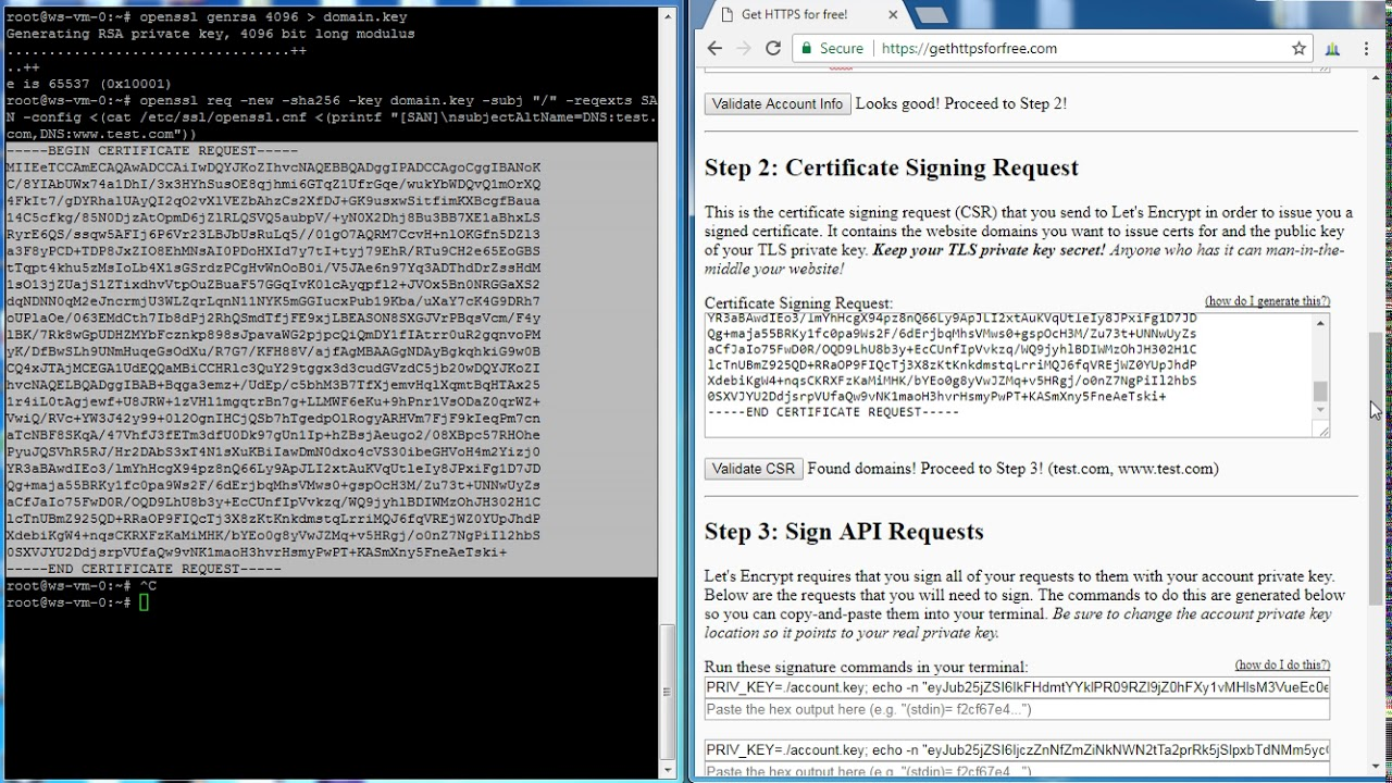 How To Generate Ssl With Command Line Youtube