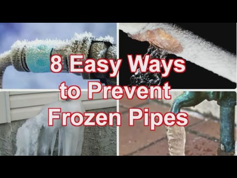 Preventing Frozen Pipes - Eight Tips to Keep your Pipes from ...