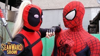 SPIDER-MAN vs LADY DEADPOOL - Epic Cosplay Comic Book Movie in Real Life