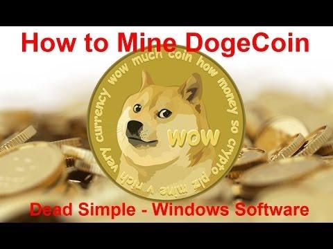 How To Mine DogeCoins Easy - Dead Simple Windows Software - No DOS - No .Bat Files