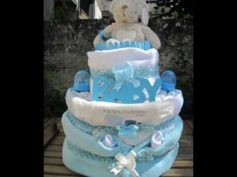 Gateau de couches baby shower