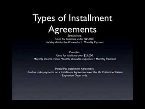 Irs Payment Plans Installment Agreement Youtube