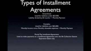 IRS Payment Plans - Installment Agreement