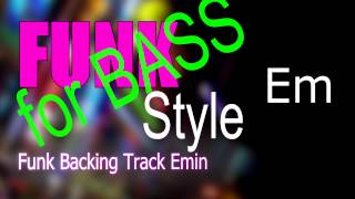 Funk BASS Backing Track Em 107 Bpm Highest Quality