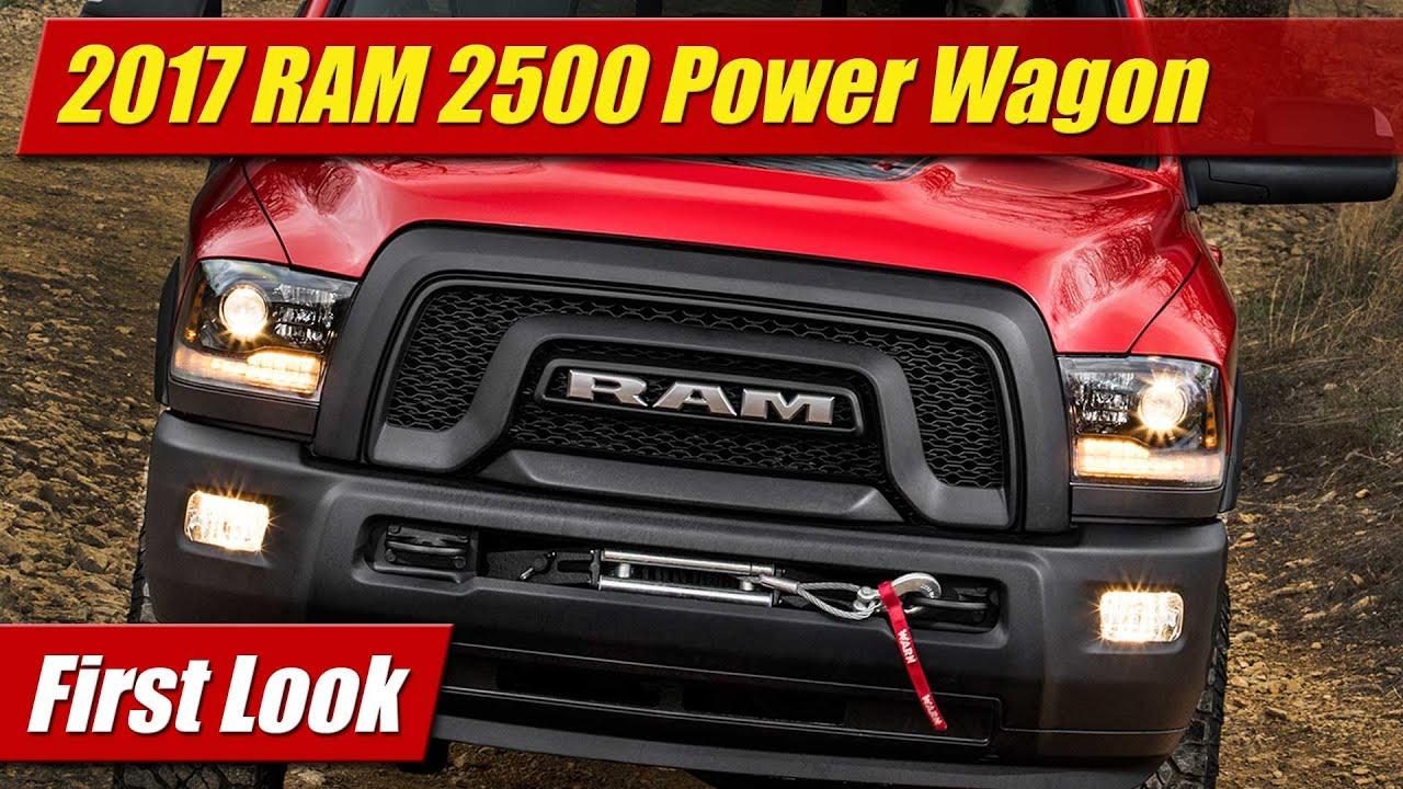 2017 Ram 2500 Power Wagon First Look Youtube Dodge 1500