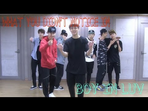 """What you didn't notice in Boy In Luv practice """"when BTS was practicing the showcase"""""""