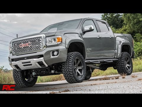 2018 gmc canyon denali rough country off road edition cyber gray metallic vehicle profile youtube 2018 gmc canyon denali rough country