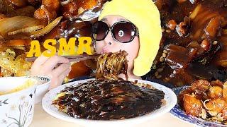 ASMR Black Noddles | Jjajangmy…
