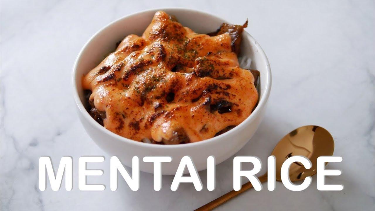 Resep Mentai Rice Salmon Crabstick And Beef Shirataki Noodles Recipe Youtube