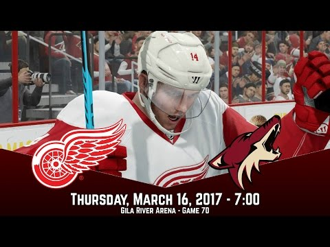 OVERTIME IN ARIZONA! (Detroit Red Wings @ Arizona Coyotes) NHL 17