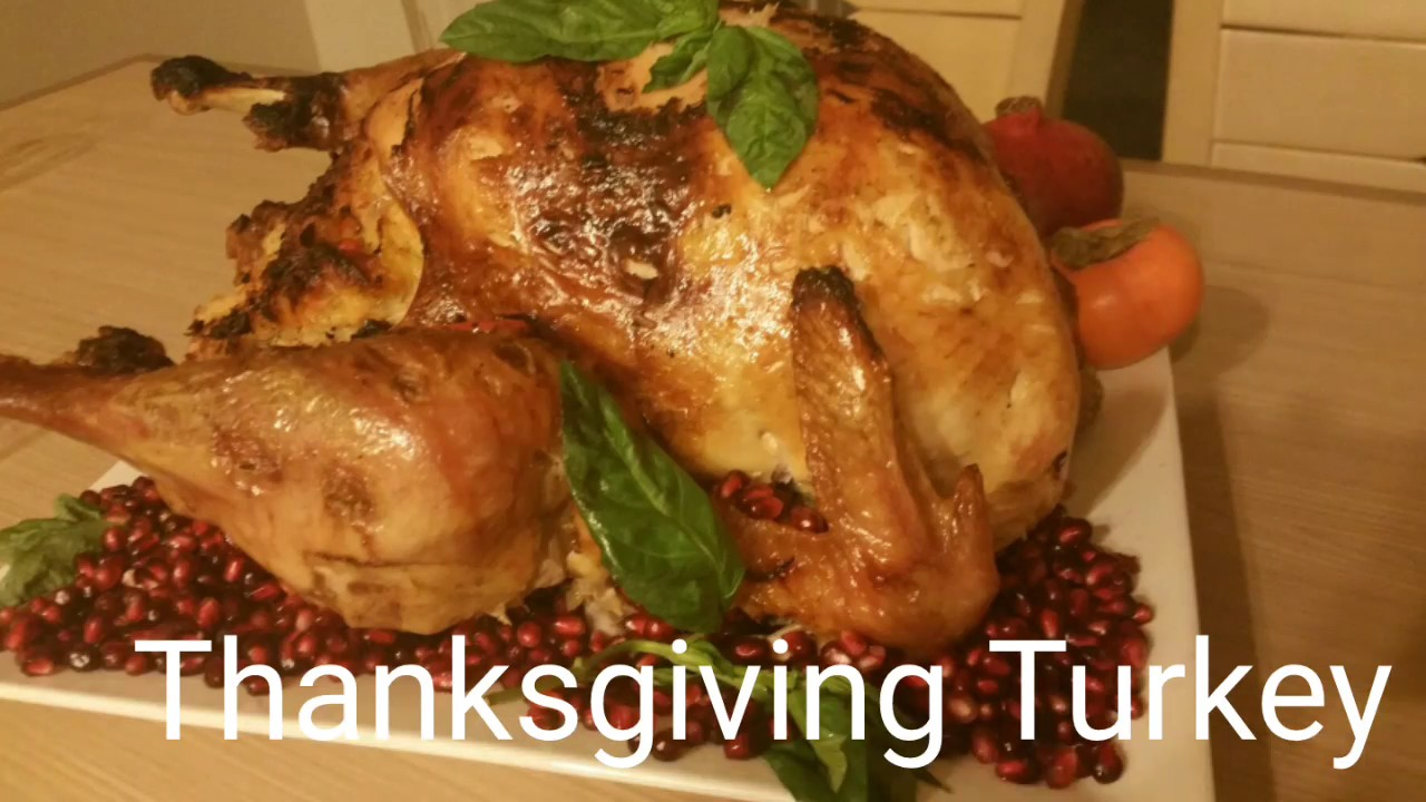 Easy Thanksgiving Turkey Recipe With Tasty Stuffing Youtube